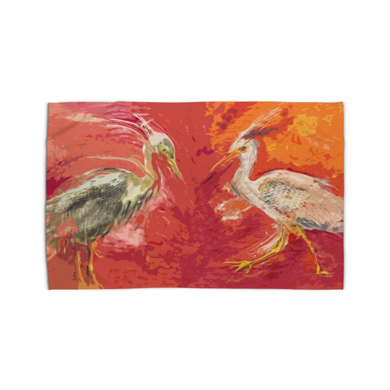 HERONS Home Rug by designsbydana's Artist Shop