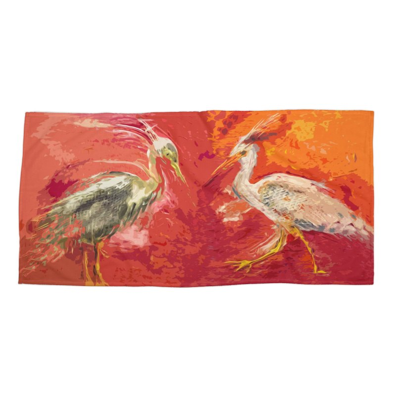HERONS Accessories Beach Towel by designsbydana's Artist Shop
