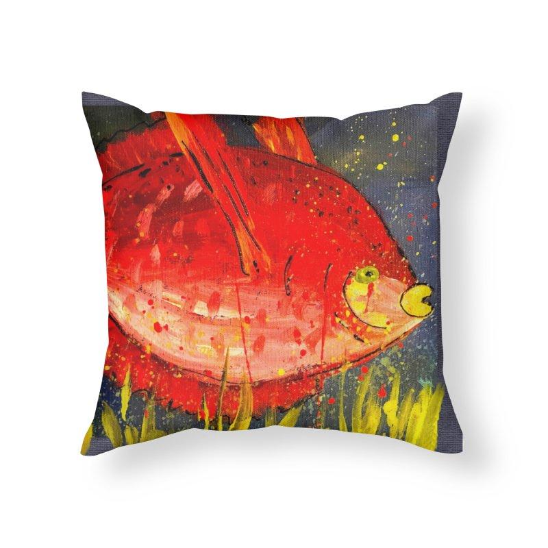 PUCKER UP Home Throw Pillow by designsbydana's Artist Shop