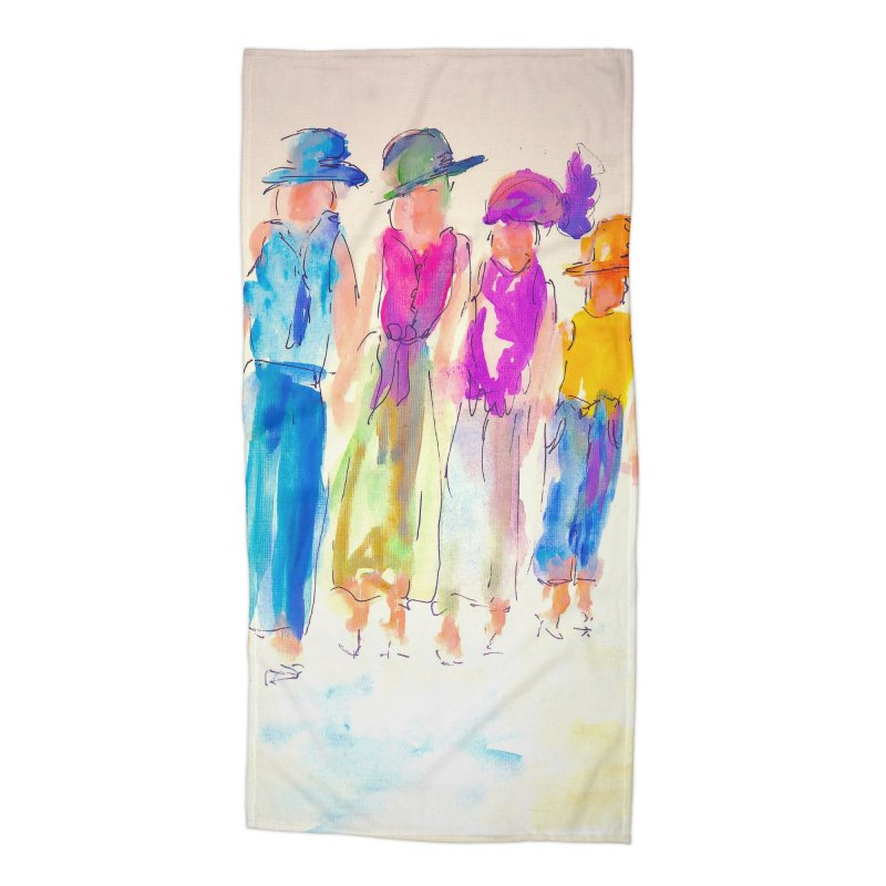 4 LADIES Accessories Beach Towel by designsbydana's Artist Shop