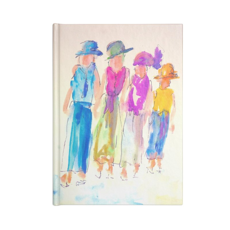 4 LADIES Accessories Lined Journal Notebook by designsbydana's Artist Shop