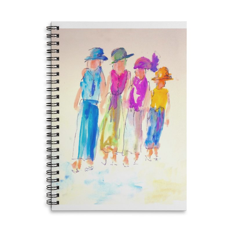 4 LADIES Accessories Lined Spiral Notebook by designsbydana's Artist Shop