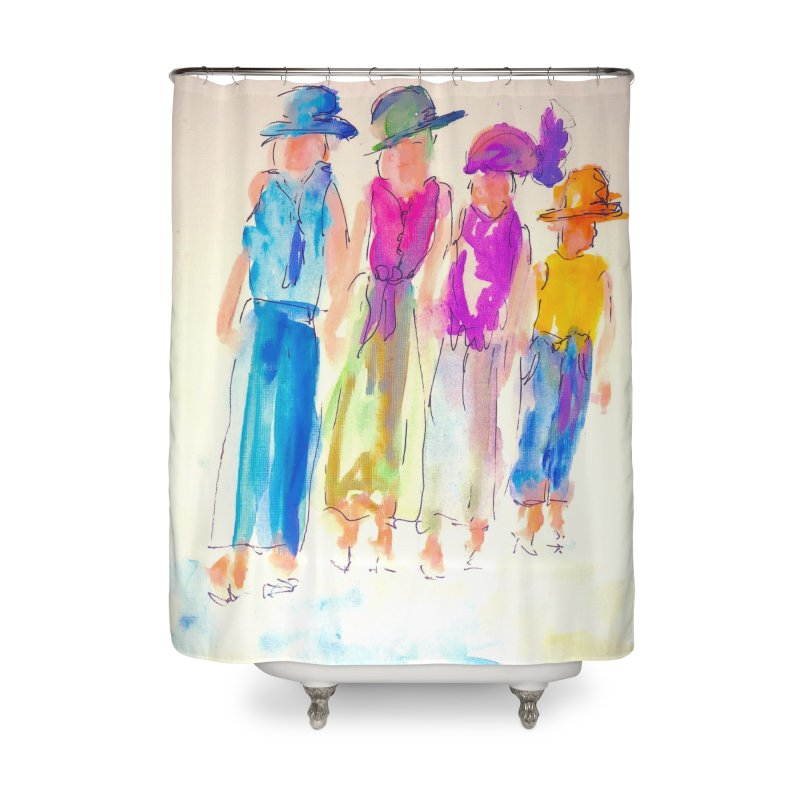 4 LADIES Home Shower Curtain by designsbydana's Artist Shop