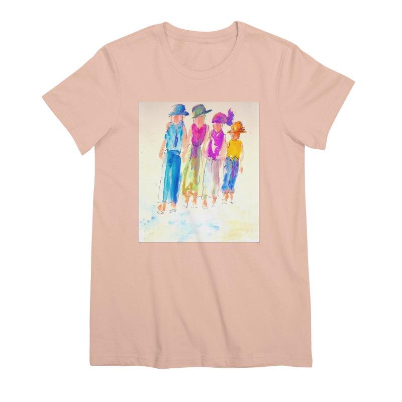 4 LADIES Women's Premium T-Shirt by designsbydana's Artist Shop