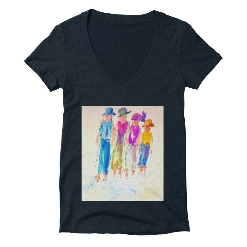 4 LADIES Women's Deep V-Neck V-Neck by designsbydana's Artist Shop