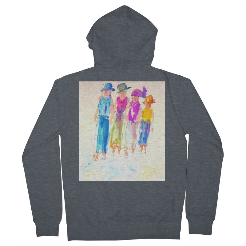 4 LADIES Women's French Terry Zip-Up Hoody by designsbydana's Artist Shop