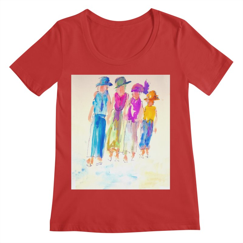 4 LADIES Women's Regular Scoop Neck by designsbydana's Artist Shop