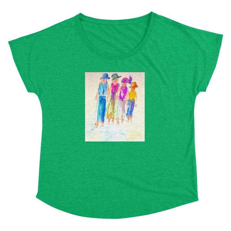 4 LADIES Women's Dolman Scoop Neck by designsbydana's Artist Shop