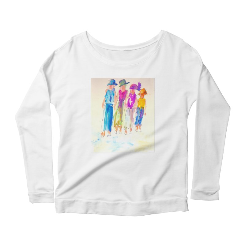 4 LADIES Women's Scoop Neck Longsleeve T-Shirt by designsbydana's Artist Shop