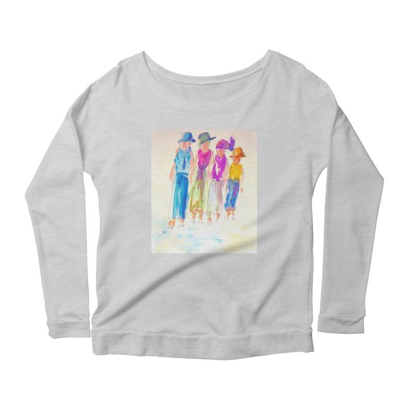 4 LADIES Women's Scoop Neck Longsleeve T-Shirt by designsbydana's Artist Shop
