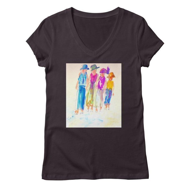 4 LADIES Women's Regular V-Neck by designsbydana's Artist Shop