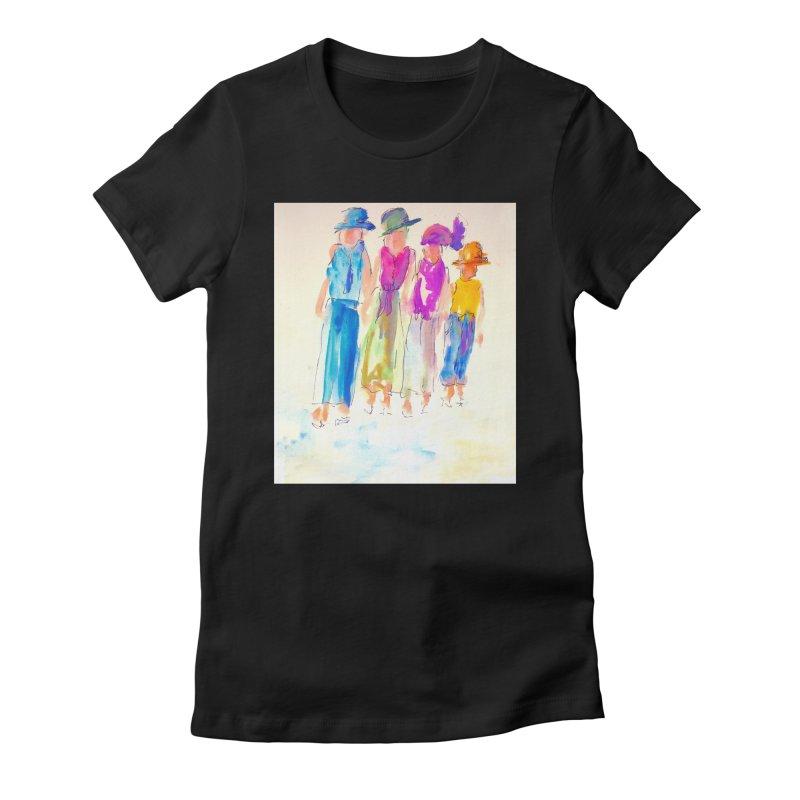 4 LADIES Women's Fitted T-Shirt by designsbydana's Artist Shop