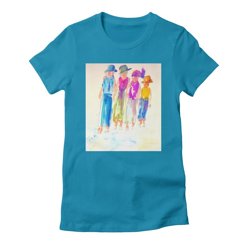 4 LADIES Women's Fitted T-Shirt by designsbydana's Artist Shop