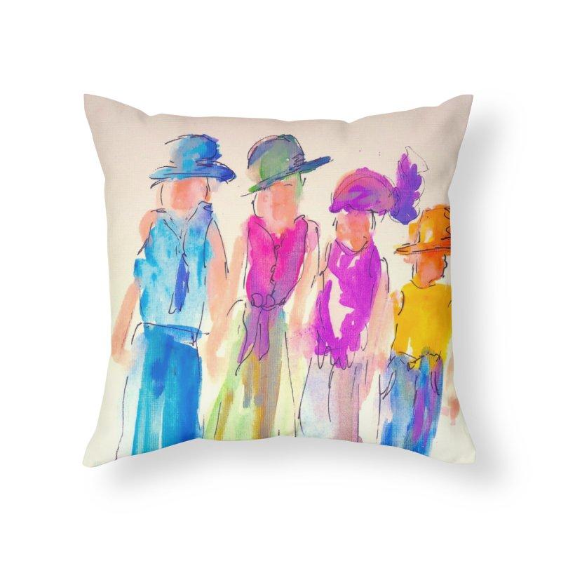 4 LADIES Home Throw Pillow by designsbydana's Artist Shop