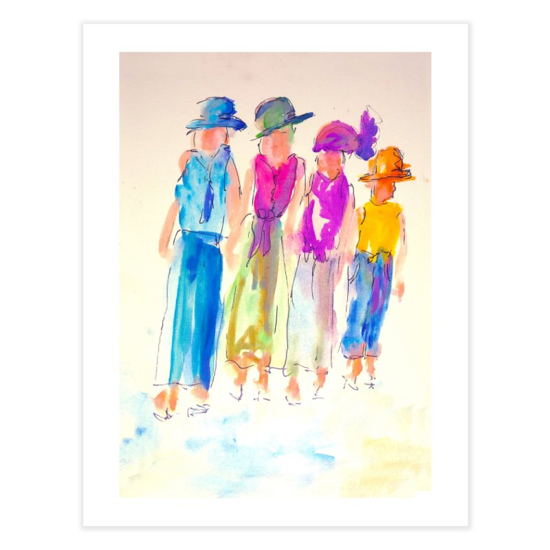 4 LADIES Home Fine Art Print by designsbydana's Artist Shop