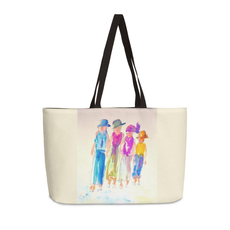 4 LADIES Accessories Weekender Bag Bag by designsbydana's Artist Shop