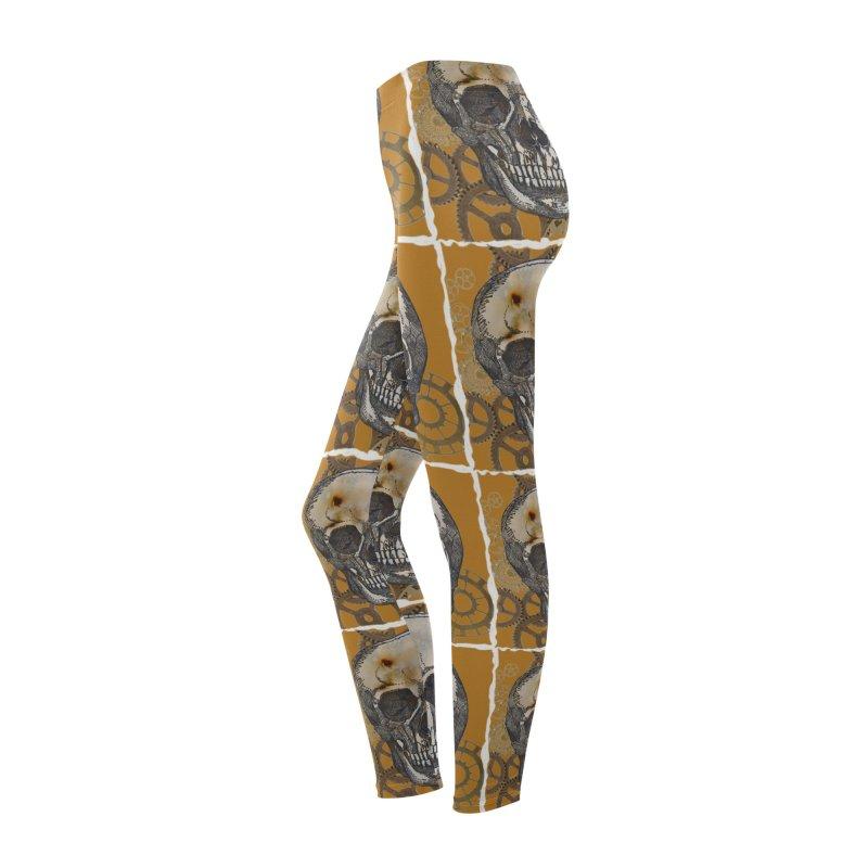 GOLDEN SKULL Women's Bottoms by designsbydana's Artist Shop