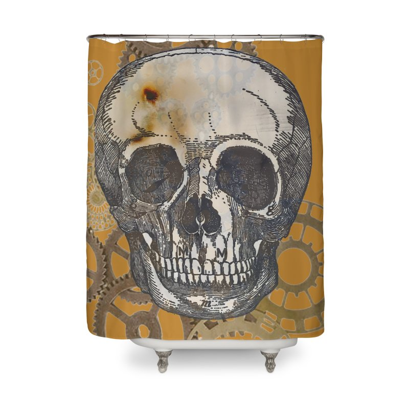 GOLDEN SKULL Home Shower Curtain by designsbydana's Artist Shop