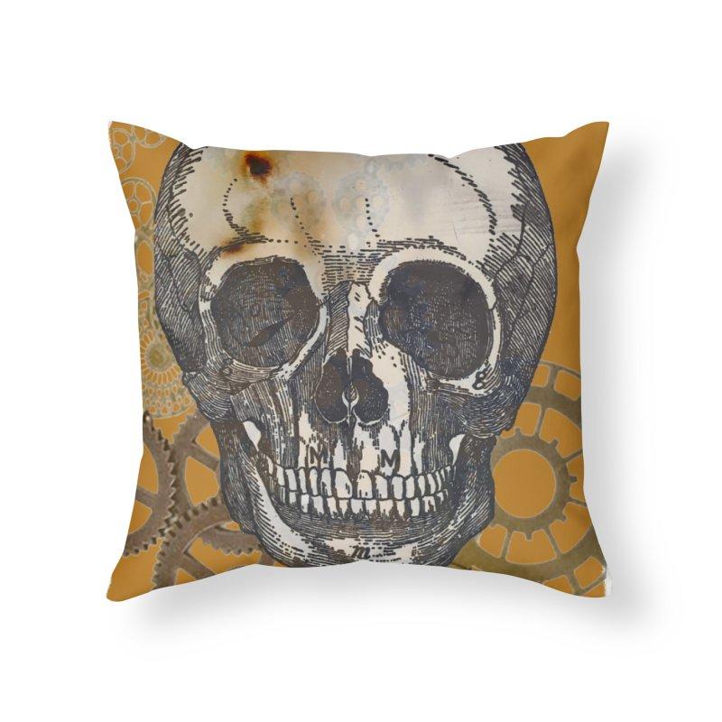 GOLDEN SKULL Home Throw Pillow by designsbydana's Artist Shop