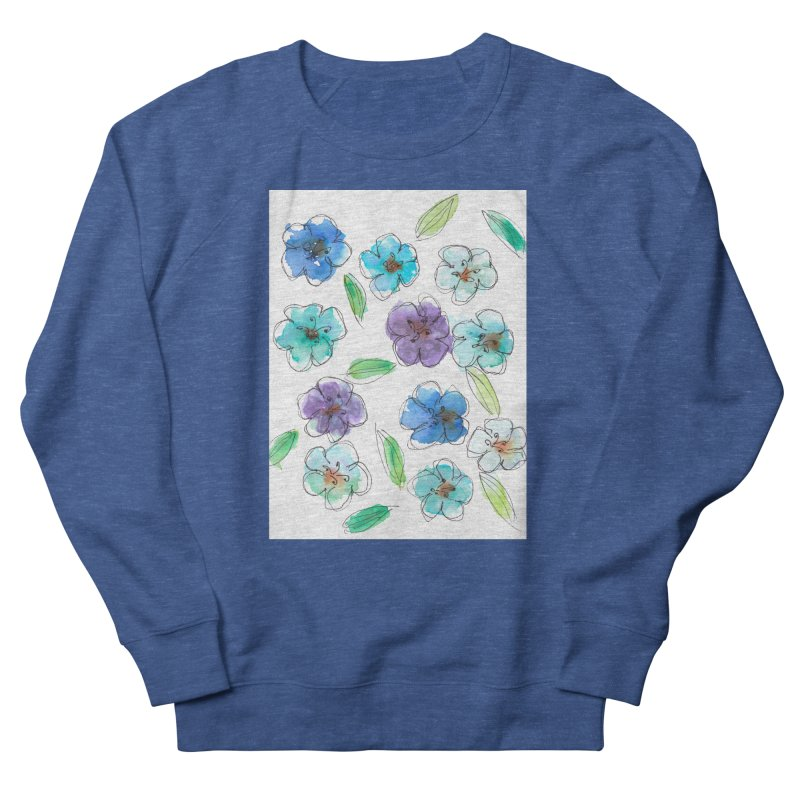 Blue flowers Men's Sweatshirt by designsbydana's Artist Shop