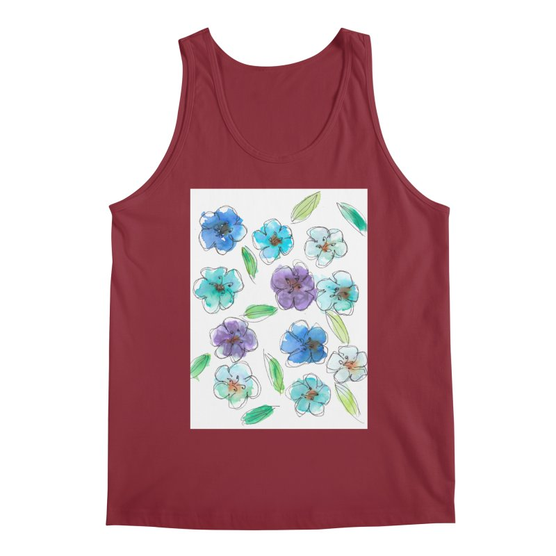 Blue flowers Men's Tank by designsbydana's Artist Shop