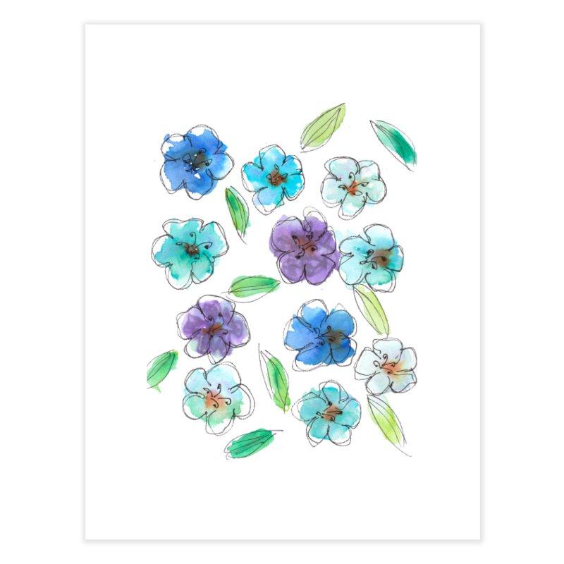 Blue flowers Home Fine Art Print by designsbydana's Artist Shop