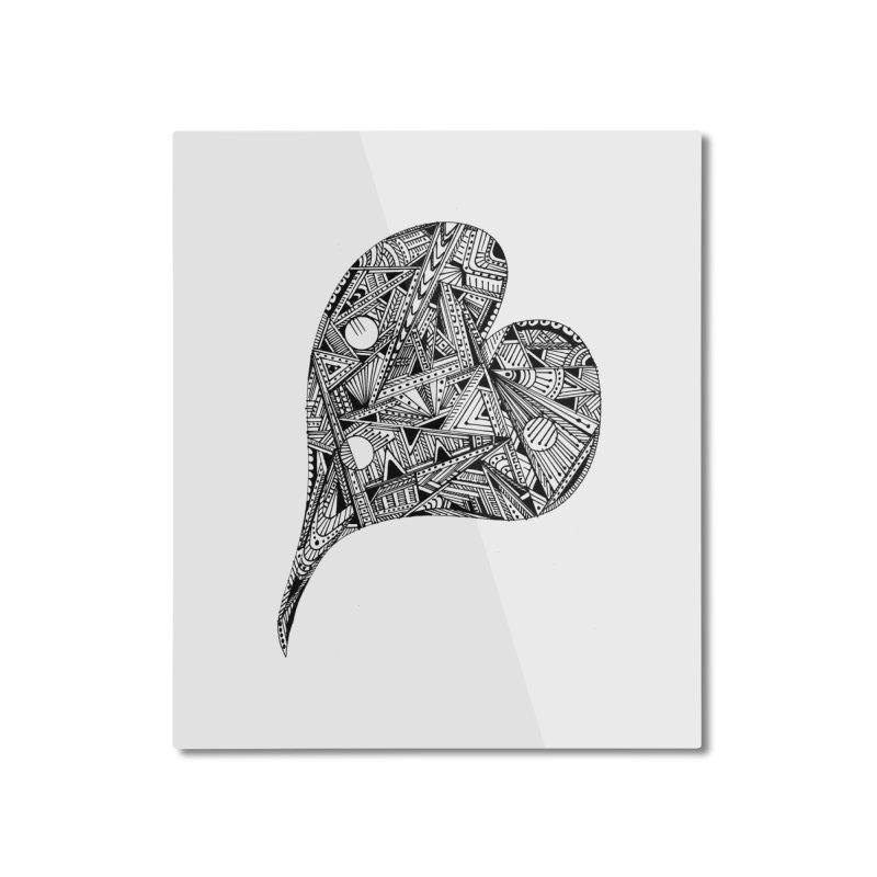 Heart Home Mounted Aluminum Print by designsbydana's Artist Shop