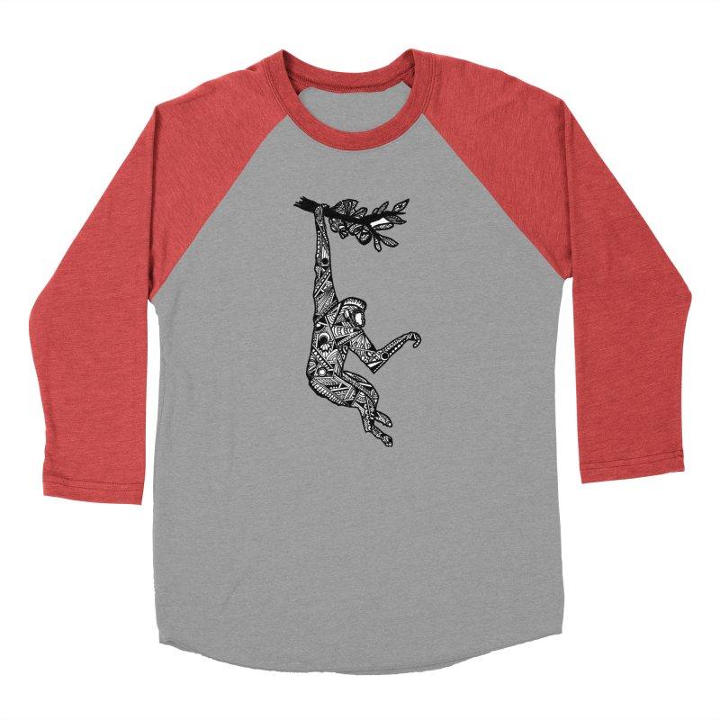 Monkey Women's Baseball Triblend Longsleeve T-Shirt by designsbydana's Artist Shop