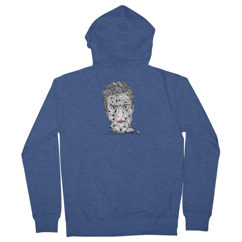 KISS ME IN THE MORNING Men's French Terry Zip-Up Hoody by designsbydana's Artist Shop