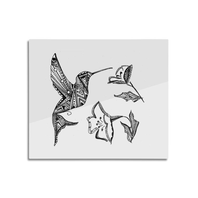 HUMMINGBIRD Home Mounted Aluminum Print by designsbydana's Artist Shop