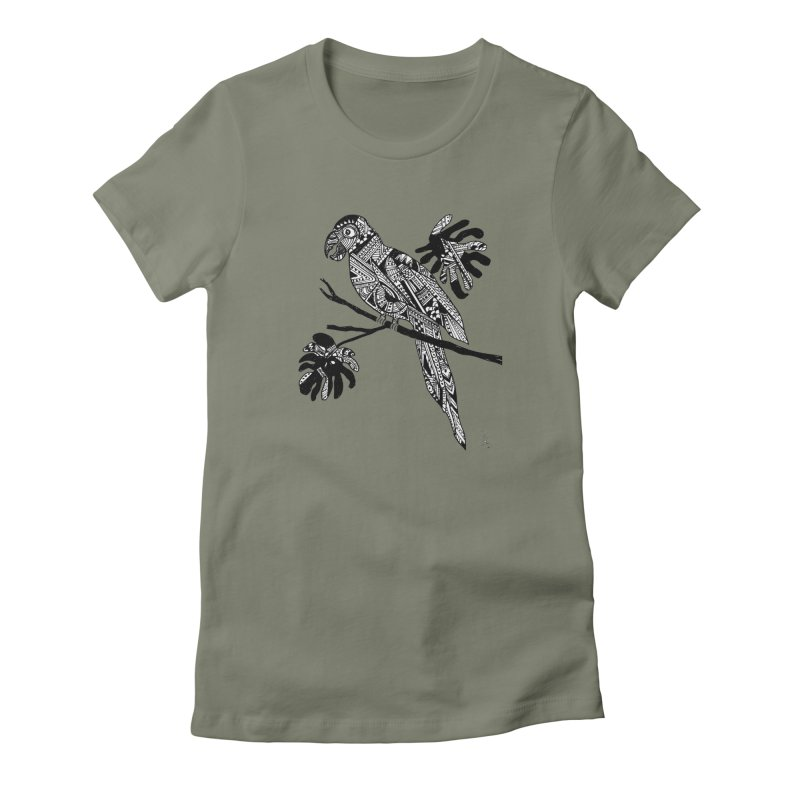 MACAW Women's Fitted T-Shirt by designsbydana's Artist Shop