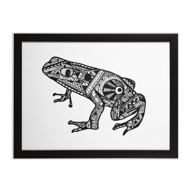 FROG Home Framed Fine Art Print by designsbydana's Artist Shop