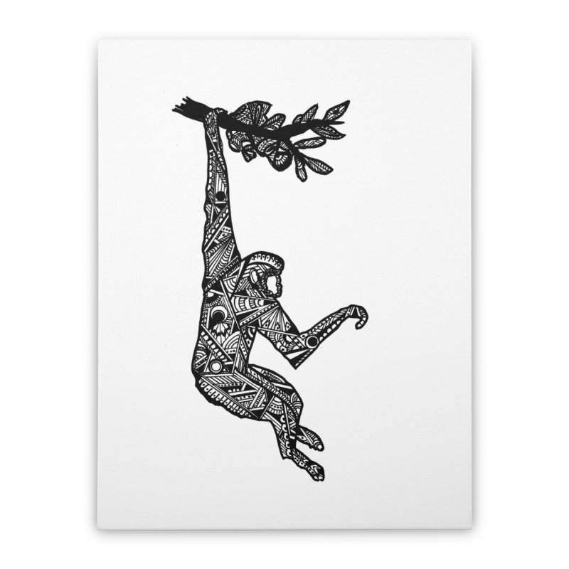 MONKEY Home Stretched Canvas by designsbydana's Artist Shop