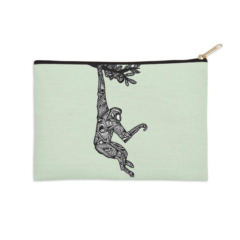 MONKEY Accessories Zip Pouch by designsbydana's Artist Shop