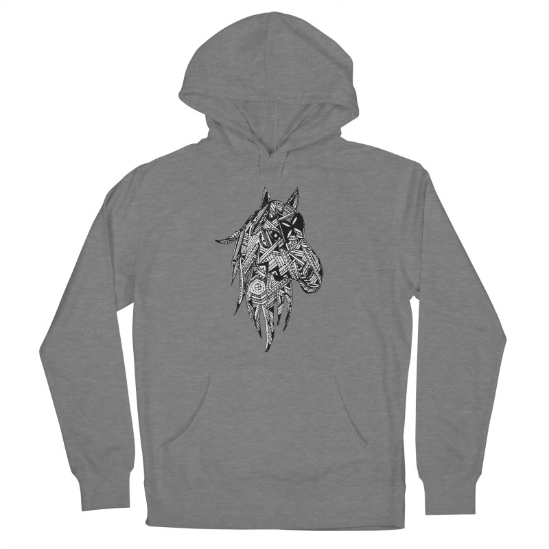 FEATHER HORSE Women's Pullover Hoody by designsbydana's Artist Shop