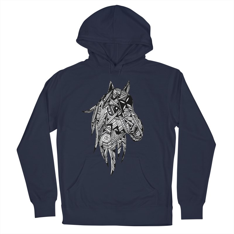 FEATHER HORSE Men's Pullover Hoody by designsbydana's Artist Shop