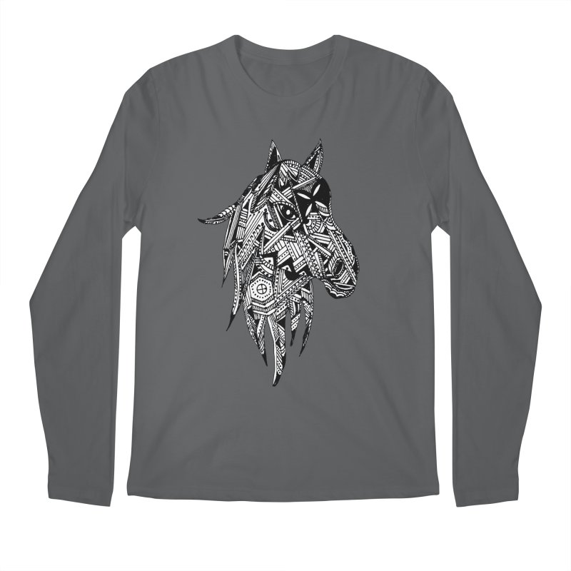 FEATHER HORSE Men's Longsleeve T-Shirt by designsbydana's Artist Shop