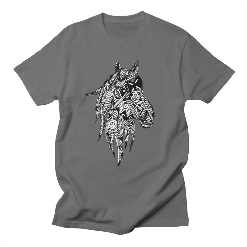 FEATHER HORSE Men's T-Shirt by designsbydana's Artist Shop