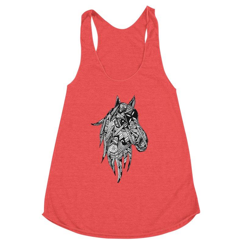 FEATHER HORSE Women's Tank by designsbydana's Artist Shop