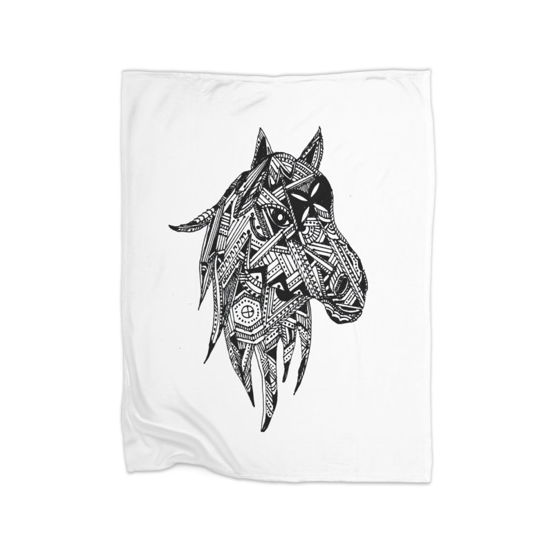 FEATHER HORSE Home Blanket by designsbydana's Artist Shop