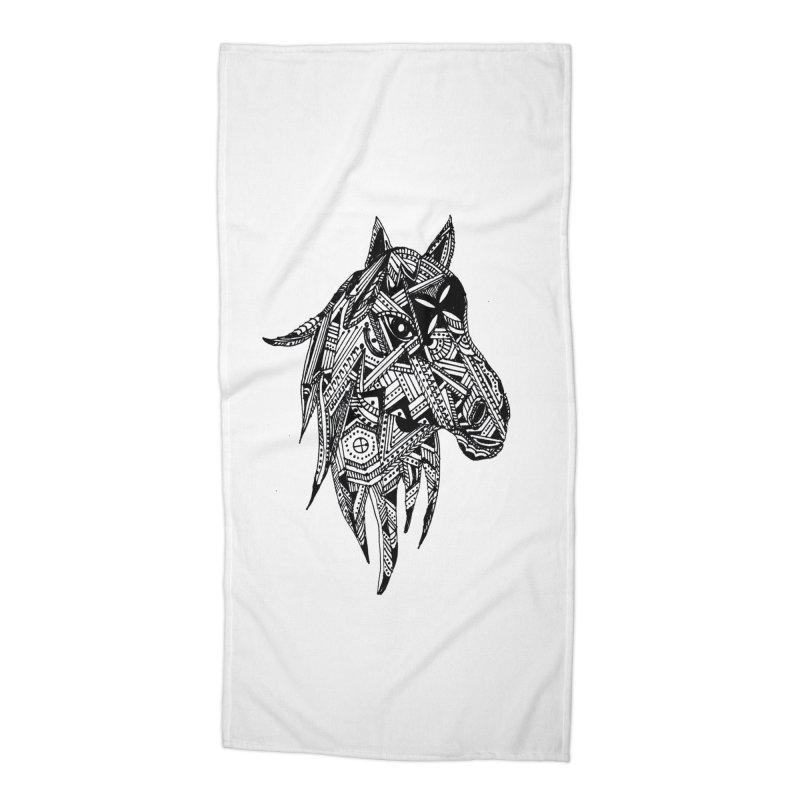 FEATHER HORSE Accessories Beach Towel by designsbydana's Artist Shop