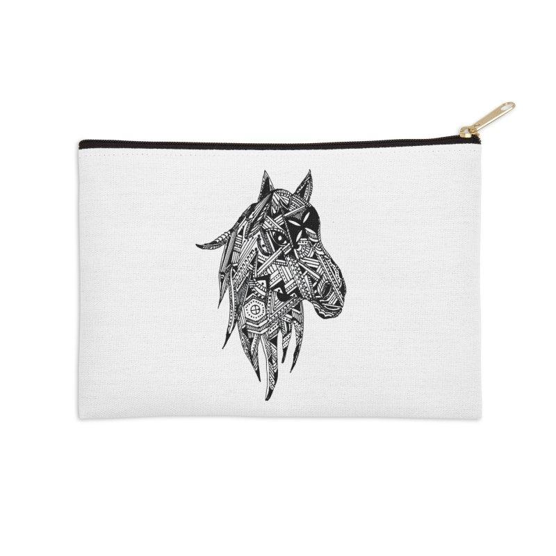 FEATHER HORSE Accessories Zip Pouch by designsbydana's Artist Shop