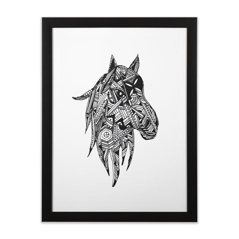 FEATHER HORSE Home Framed Fine Art Print by designsbydana's Artist Shop