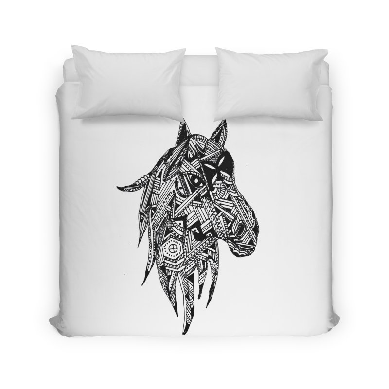 FEATHER HORSE Home Duvet by designsbydana's Artist Shop