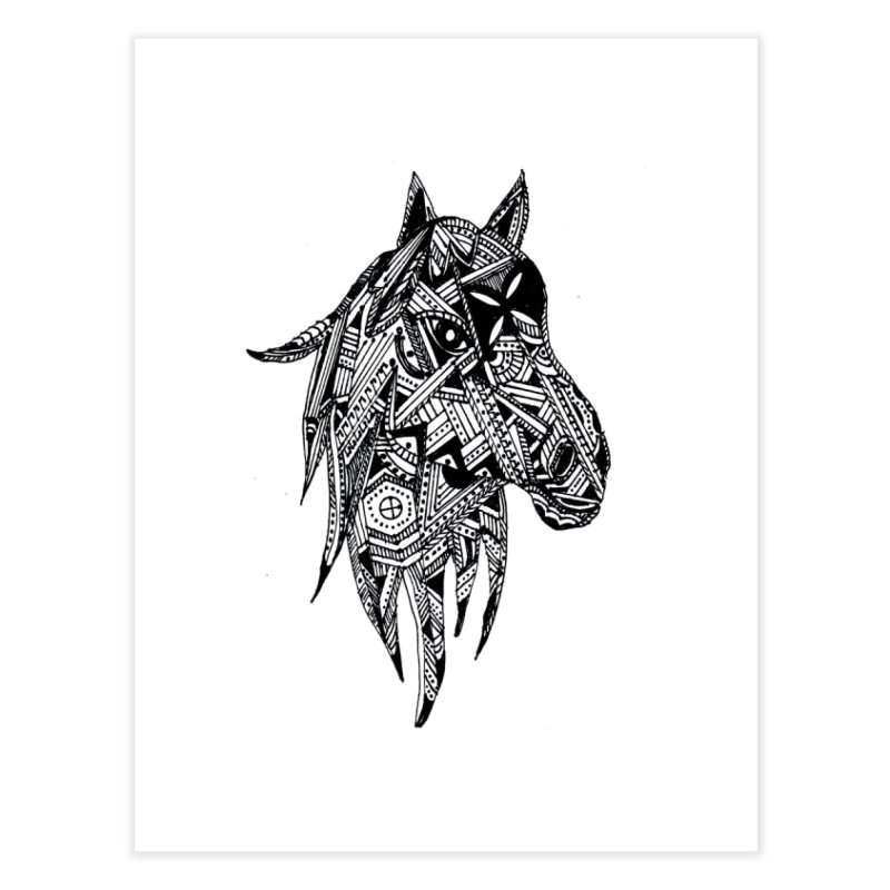 FEATHER HORSE Home Fine Art Print by designsbydana's Artist Shop