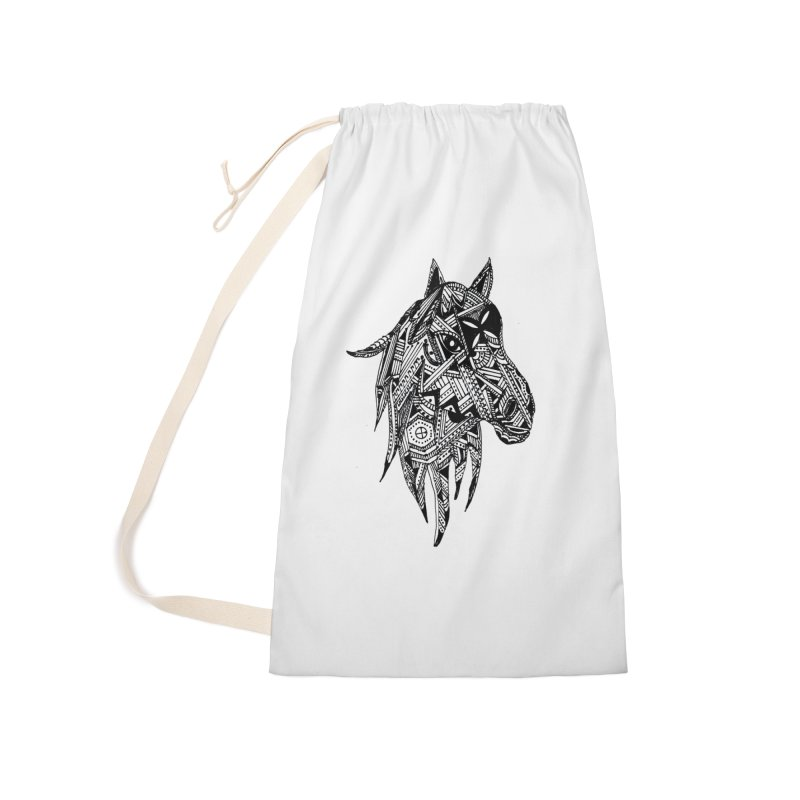 FEATHER HORSE Accessories Laundry Bag Bag by designsbydana's Artist Shop