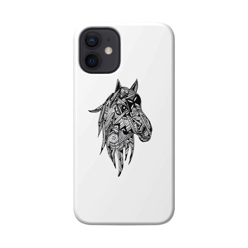 FEATHER HORSE Accessories Phone Case by designsbydana's Artist Shop