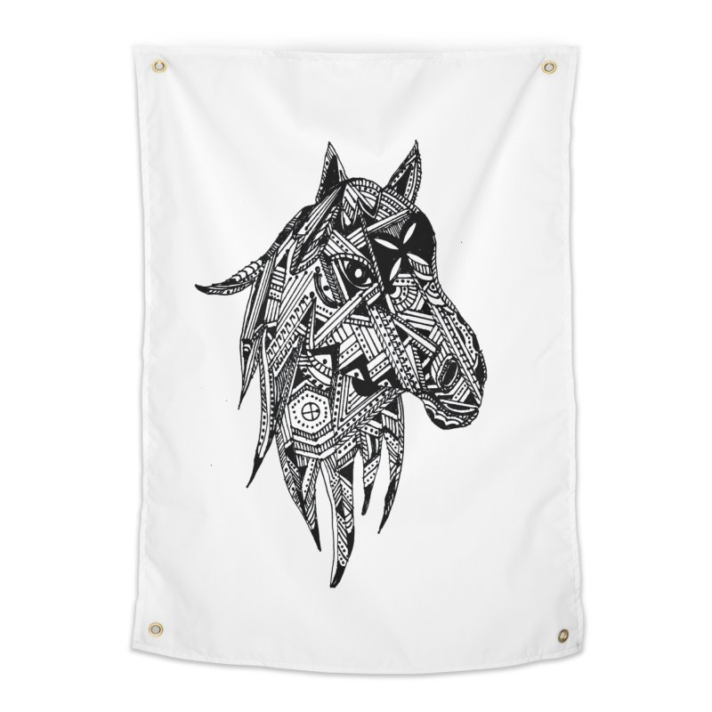 FEATHER HORSE Home Tapestry by designsbydana's Artist Shop
