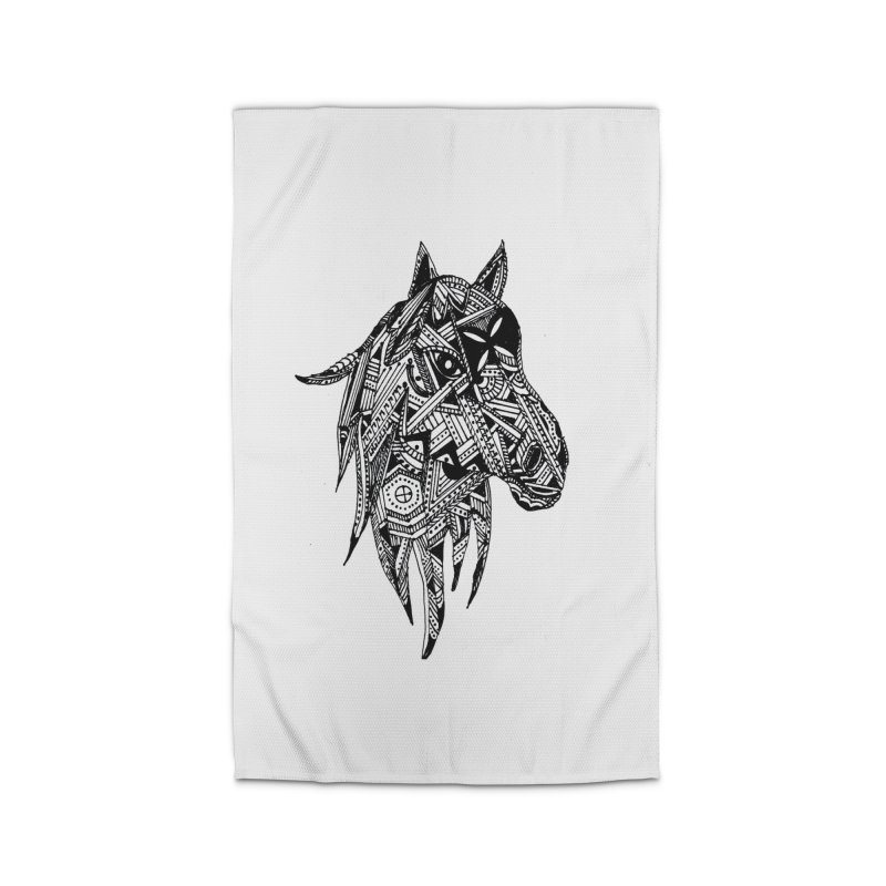 FEATHER HORSE Home Rug by designsbydana's Artist Shop