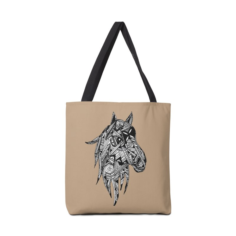 FEATHER HORSE Accessories Bag by designsbydana's Artist Shop